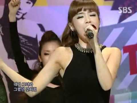 2NE1 - In the club @ SBS Inkigayo 인기가요 090913