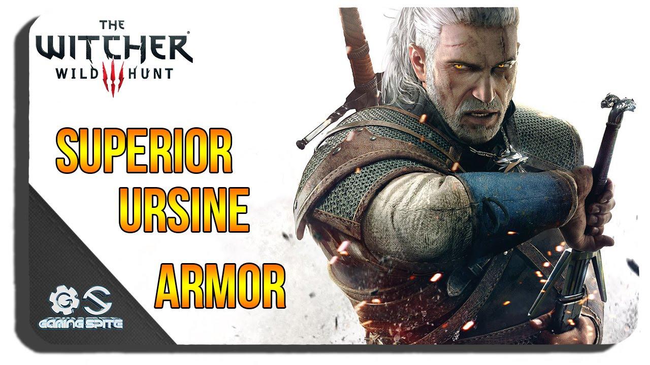 The Witcher 3 - Superior Ursine Armor Set Diagrams Location - YouTube