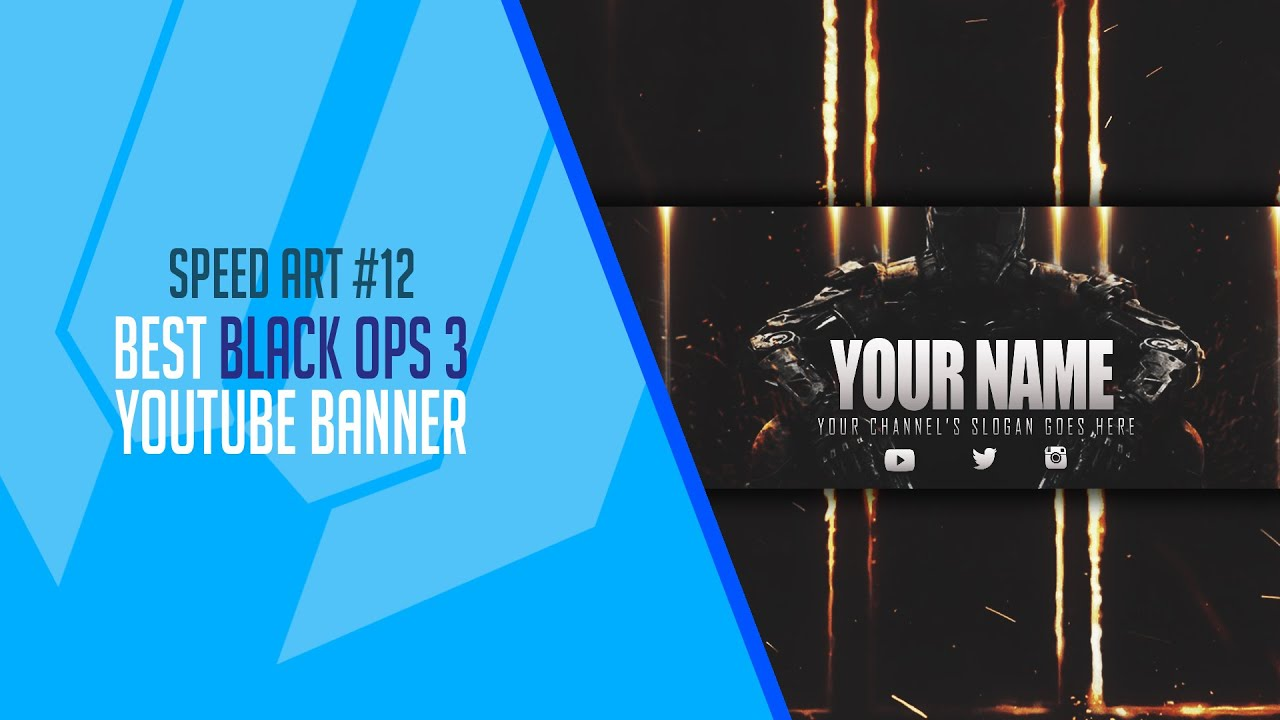 *APOLOGIE* How To Make a Sick Black Ops 3 Youtube Banner + Free Template