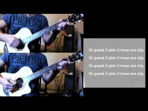 partition guitare quand il pete il trou son slip