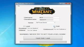 2014 World of Warcraft Hacker---Gold  + Level Up