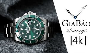 Review trên tay đồng hồ Rolex Submariner Date Oystersteel 116610LV - The Hulk