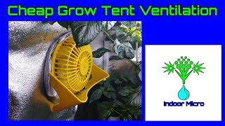 Cheap Grow Tent Intake Exhaust Ventilation