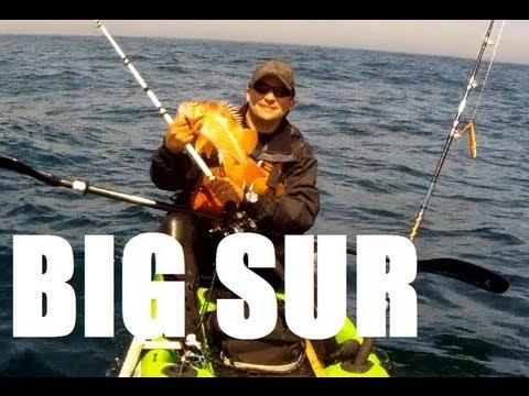 Big Sur Kayak Fishing Rockfish May 2013 and fishing tips