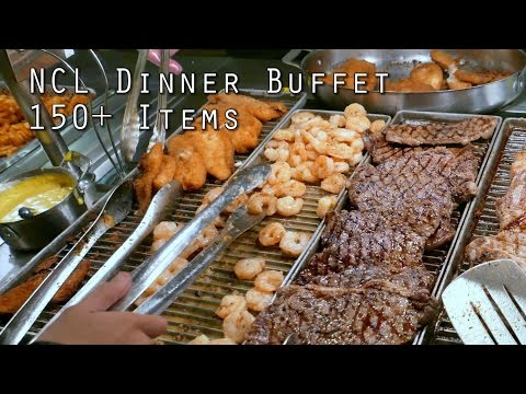 NCL Dinner Buffet 150+ Food Items from Garden Cafe