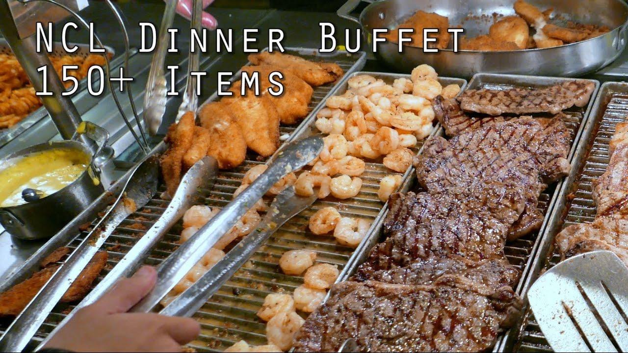 Ncl Dinner Buffet 150 Food Items From Garden Cafe Doovi
