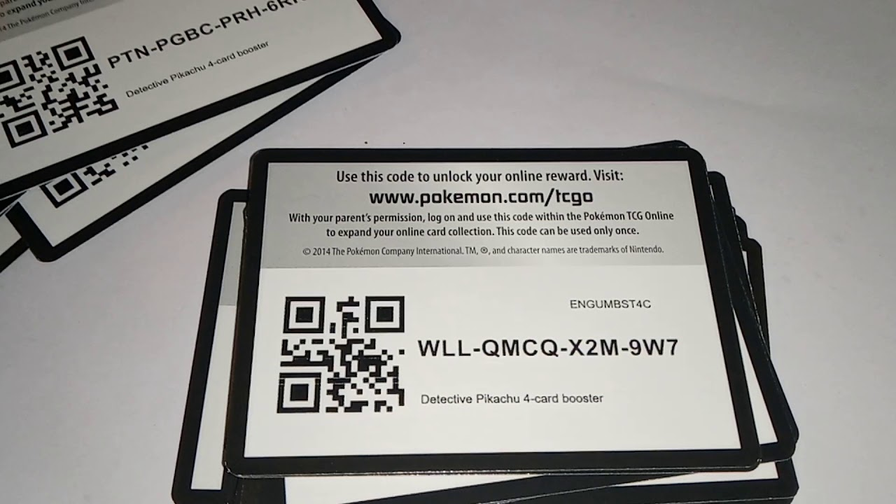 FREE POKEMON TCGO CODE CARDS - YouTube