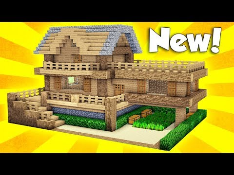 Minecraft: Wooden House Tutorial - How to Build a House in Minecraft / Easy /