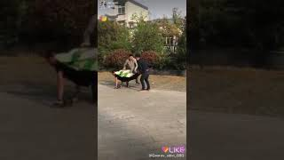 Man car funny video