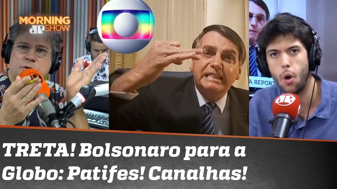 """TRETA! Citado em reportagem sobre Marielle, Bolsonaro dispara contra Globo: """"Patifes! Canalhas!"""""""