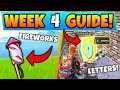 Fortnite WEEK 4 CHALLENGES! - Launch Fireworks Locations, Letter O (Battle Royale Season 7 Guide)