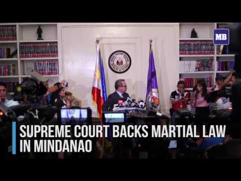 Supreme Court backs martial law in Mindanao