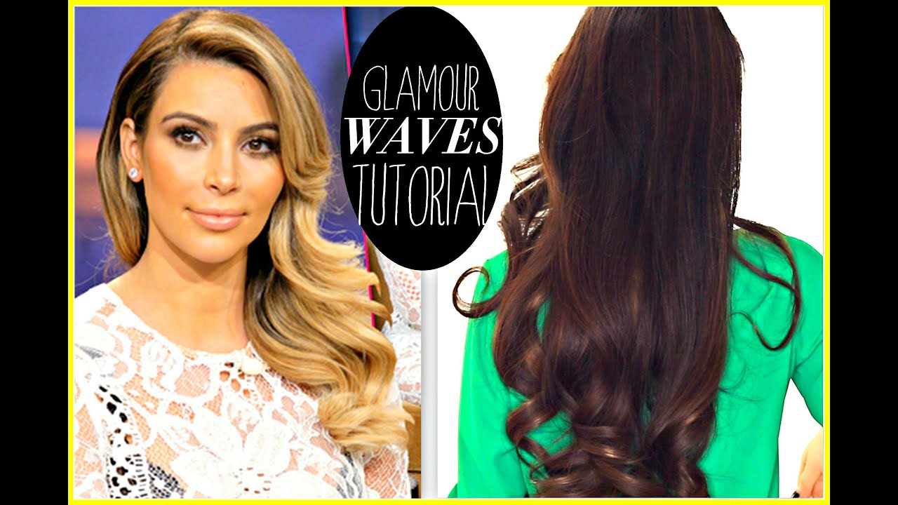 KIM KARDASHIAN EVERYDAY OLD HOLLYWOOD CURLS