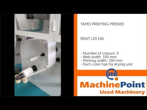 SIAT L53 150 Used TAPES PRINTING PRESSES MACHINES MachinePoint