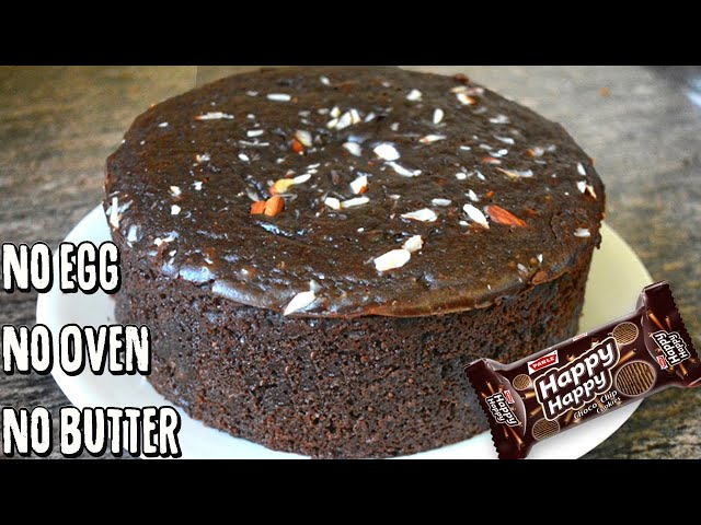 Biscuit ல எப்படி கேக் செய்வது | Happy Happy Biscuit Cake | no egg, no butter, no Oven, no maida