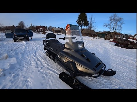 Заброшенная Деревня на Снегоходе Yamaha Viking (Ямаха Викинг)