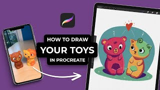 How To Draw Your Toys In Procreate (#Shorts)