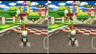 [MKW Comparison] Mario Circuit (Glitch) - Michi (TAS BKT vs Former TAS BKT)