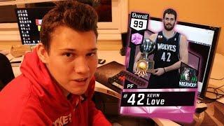 OMG 99 OVERALL PINK DIAMOND KEVIN LOVE NBA 2K17 #12