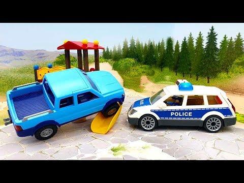 Мультфильмы для детей с игрушками Плеймобил - Хороший бандит! Видео про машинки смотреть онлайн.