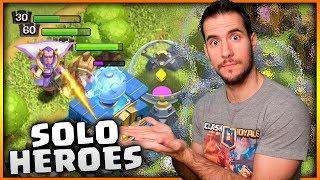 50% SOLO con HEROES y TODAS mis TORRES al MAXIMO | CLASH OF CLANS