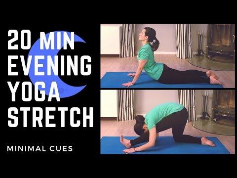 20min EVENING YOGA STRETCH   Minimal Cues   Asana Meditations