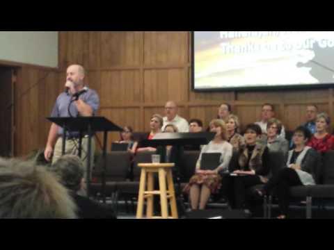 Clayton singing at First Baptist Post, TX