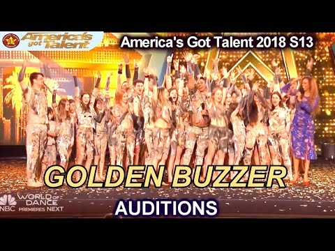 Zurcaroh Acrobatic Act GOLDEN BUZZER Winner JUST WOW!!! America's Got Talent 2018 Auditions S13E01