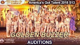 Zurcaroh Acrobatic Act GOLDEN BUZZER Winner JUST WOW!!! America's Got Talent 2018 Auditions S13E01