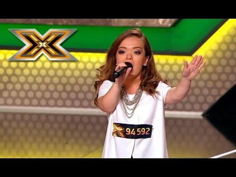 WOW! Tiny girl sings Jessie J. «Domino» - The X Factor - TOP 100
