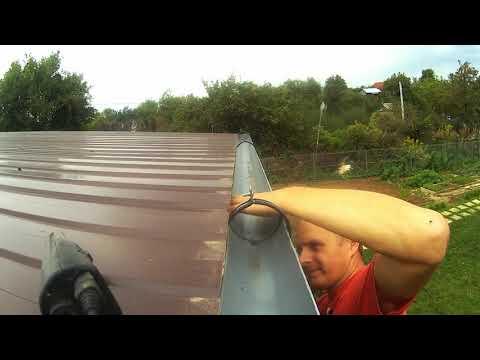 Слив для воды с крыши своими руками