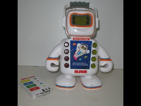 Talking Alphie by Playskool Electronic Robot Learning Toy with Cards