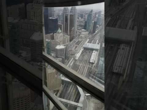 CN Tower Restaurant View in Toronto #Staffs