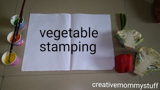 vegetable stamping activity for kids