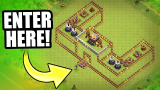 "INCREDIBLE NEW TROLL BASE!! 💥 ""THE CASTLE OF DOOM!"" 💥 Clash Of Clans"