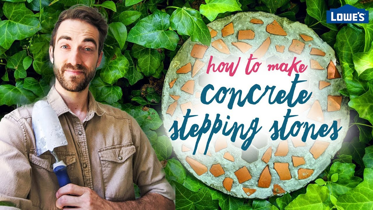 How to Make Concrete Stepping Stones /// Kids Mother's Day Project #3