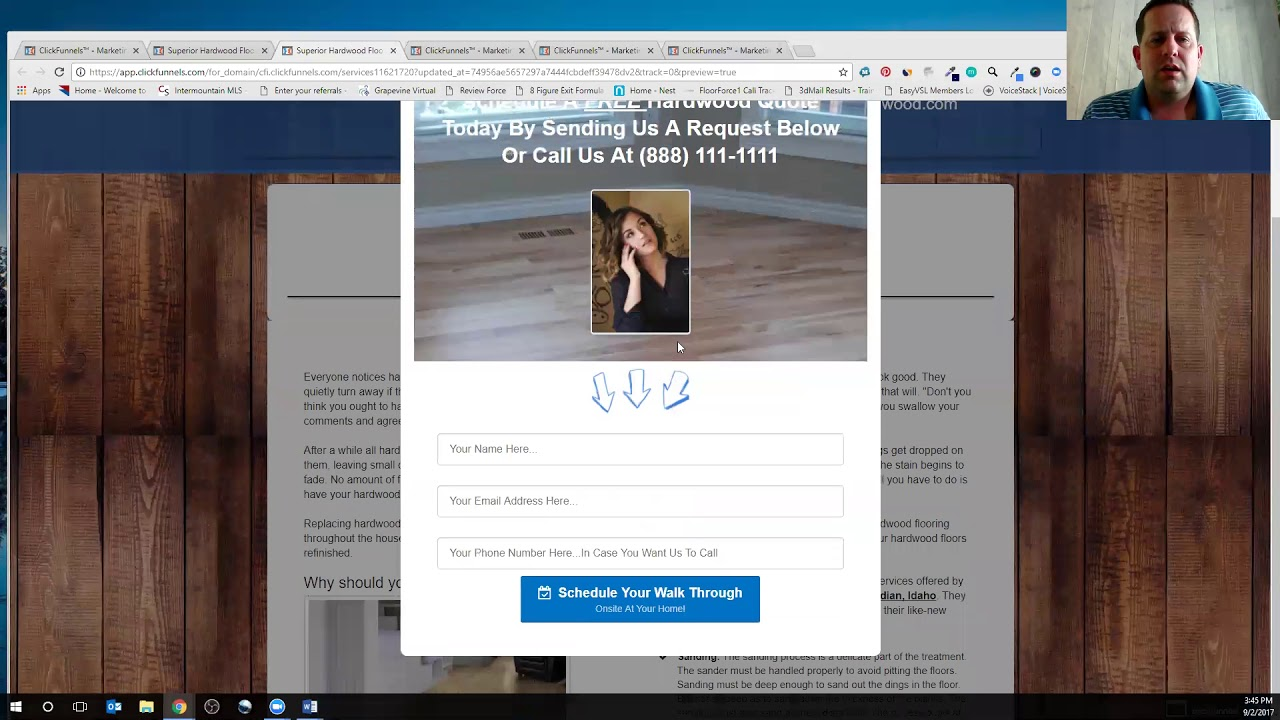 Hardwood Site  Funnel Demo  Click Funnels