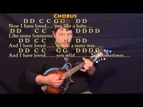 Seven Bridges Road (The Eagles) Mandolin Cover Lesson with Chords/Lyrics