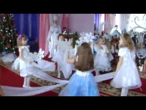 """Красивый  танец """" снежинки"""" с тканью (дет/сад №94, старшая группа)"""