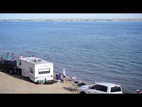 Sandy Beach Lake McConaughy Near Ogallala In Nebraska, USA 2017