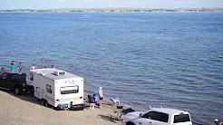 Sandy Beach Lake McConaughy Near Ogallala In Nebraska, USA 2017