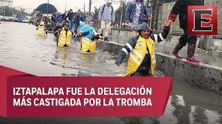 Lluvias inundan el oriente de la Ciudad de México