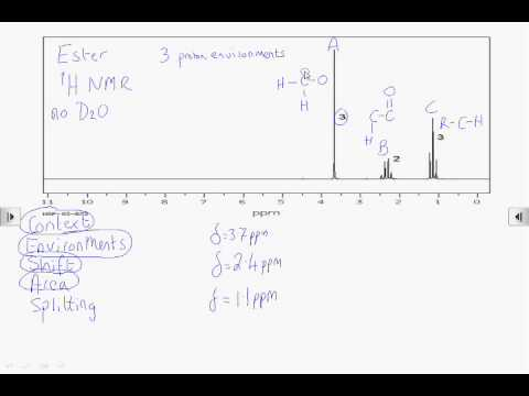 How2: Interpret a proton NMR spectrum