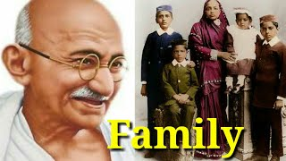 Mahatma Gandhi Family With Parents, Wife, Sons, Photos/print channel