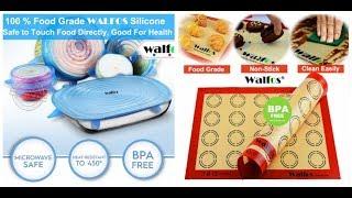 СИЛИКОНОВЫЕ КРЫШКИ  WALFOS. Антипригарный  силиконовый коврик WALFOS. ОБЗОР