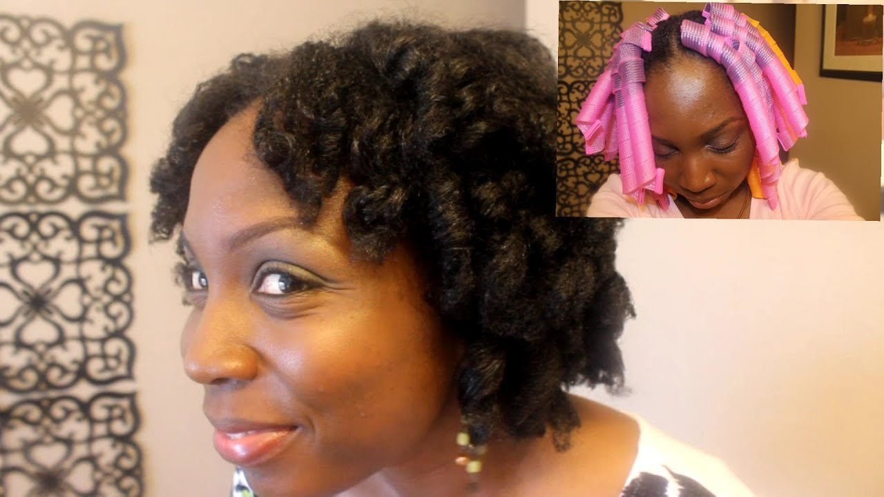Curlformers On Short Natural Hair With Shea Aloe Er