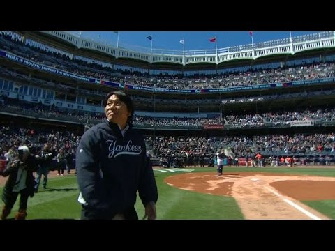 Matsui returns for ceremonial first pitch