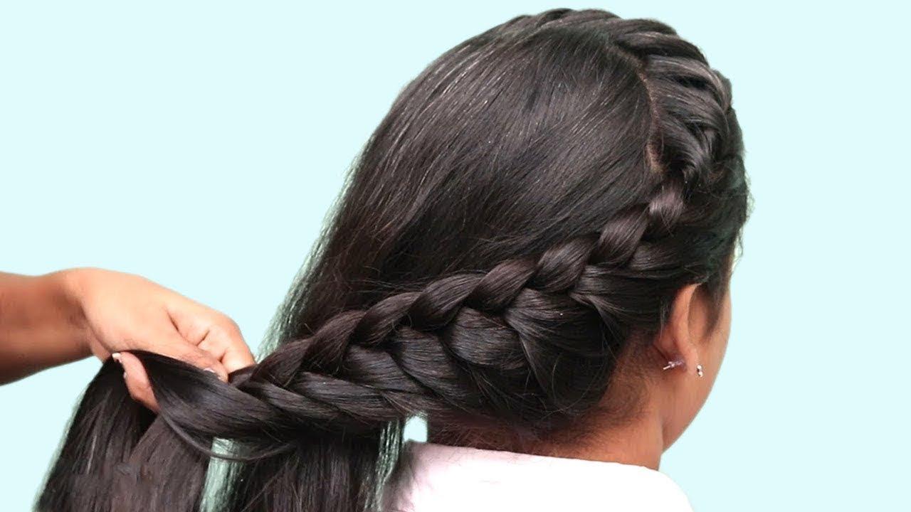 easy braided hairstyles long