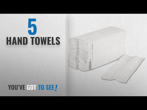 Top 10 Hand Towels [2018]: White 2ply Luxury C Folded Hand Towels Case 2355 Towels