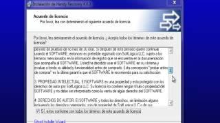 INSTALACIÓN Y FUNCIONAMIENTO HANDY RECOVERY 4